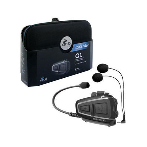 Cardo Scala Rider Q1 2014 Motorcycle / Bike Bluetooth Helmet Headset Intercom System with MP3 Thumbnail 1