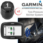 Garmin Tyre Pressure Sensor Monitor System x2 | For Zumo 590LM-595LM GPS Sat Nav