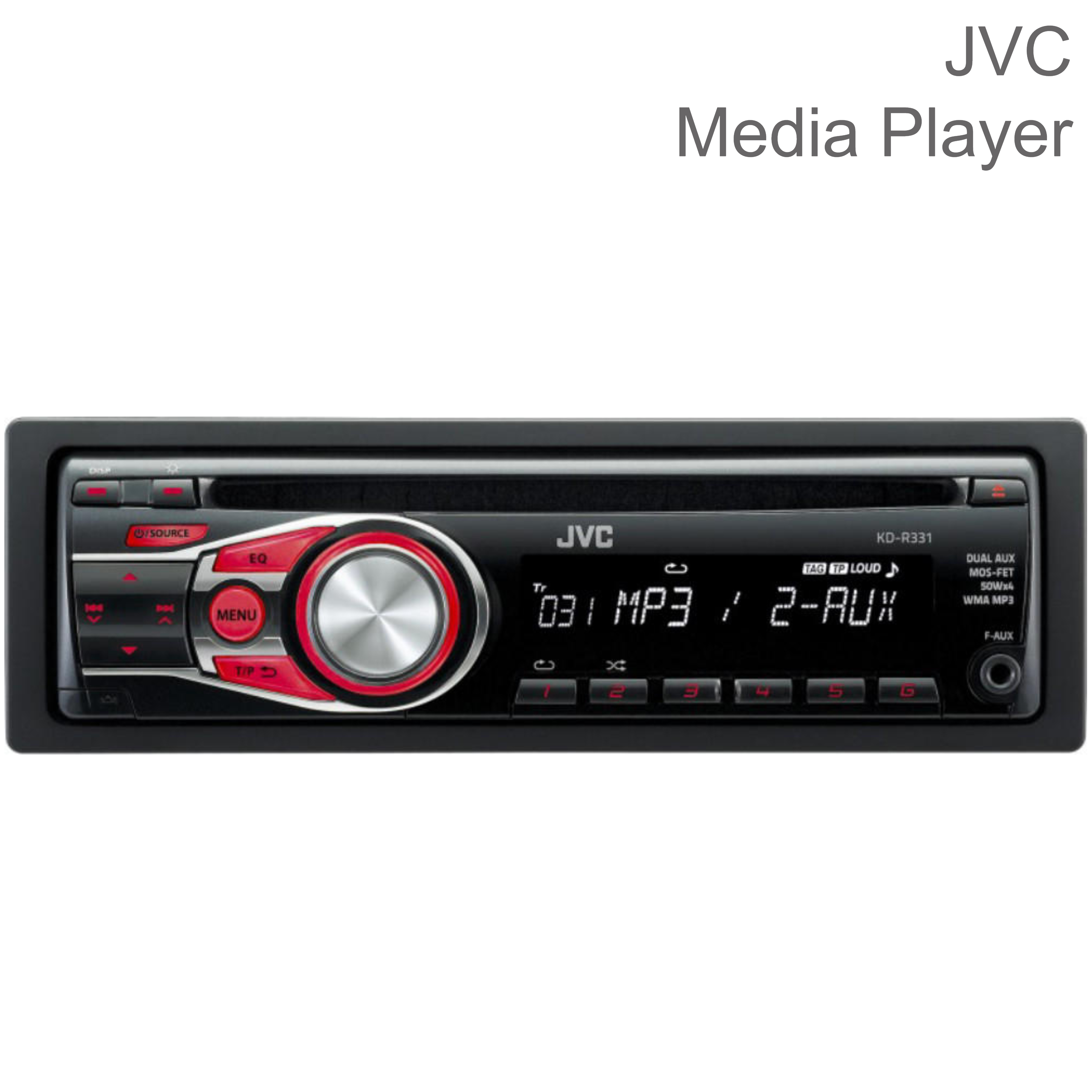 JVC KD R331 In Car Vehicle Radio CD Player Music Audio Headunit Stereo
