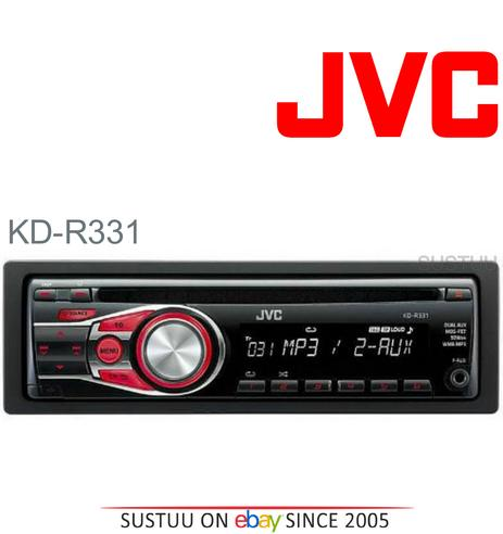 JVC KD R331 In Car Vehicle Radio CD Player Music Audio Headunit Stereo Thumbnail 1