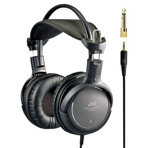 NEW JVC PREMIUM RING PORT HIGH QUALITY FULL OVER EAR HEADPHONES BLACK HA-RX900 Thumbnail 1