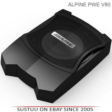 ALPINE PWE V80 In car Sound Vehicle Audio Speaker Subwoofer Thumbnail 1