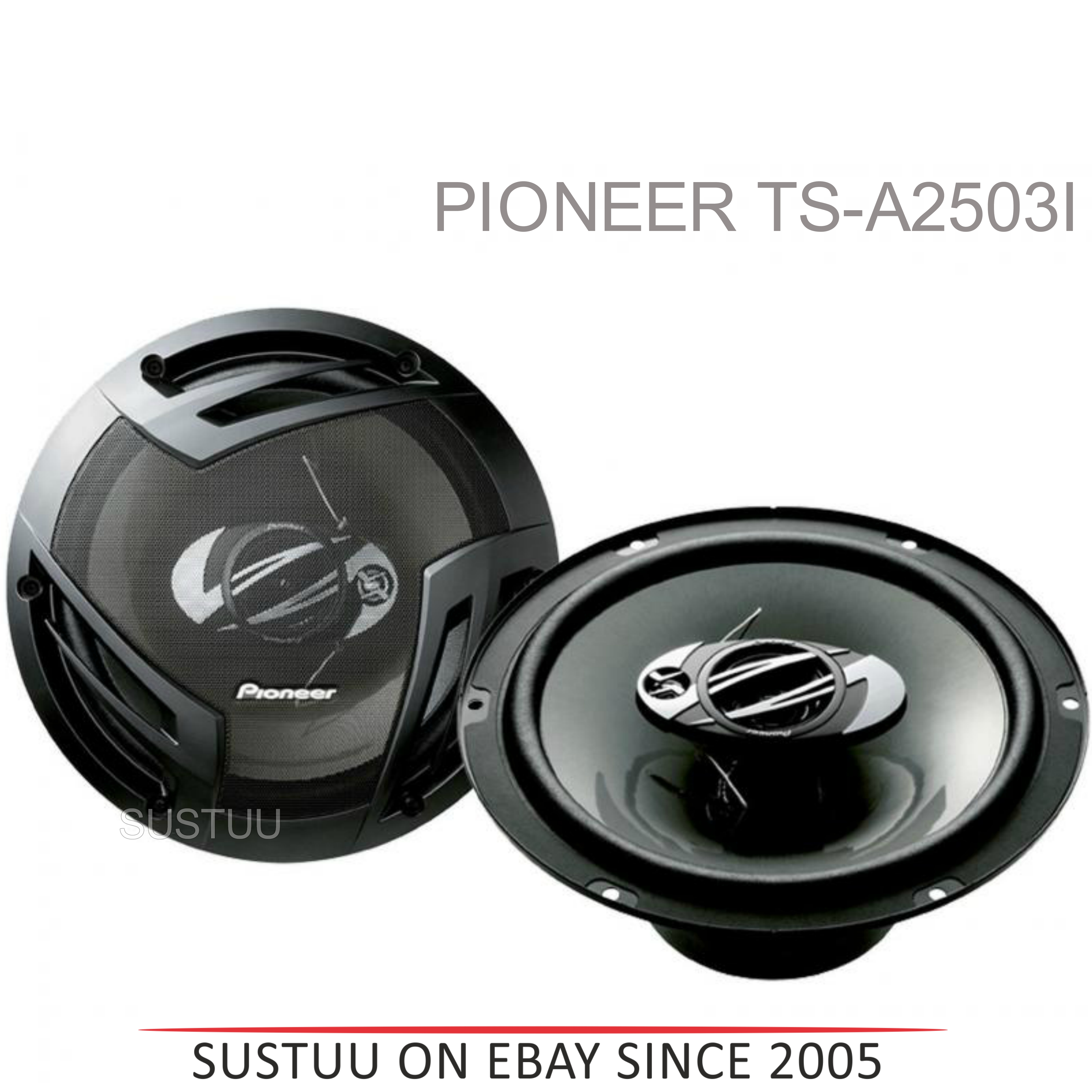 Pioneer TS-A2503i|In Car 3-way Coaxial Speakers|Door-Shelf|Impedance 4?|25cm|420W