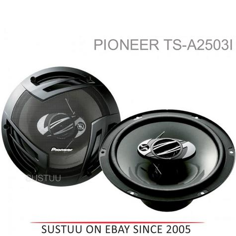 Pioneer TS-A2503i|In Car 3-way Coaxial Speakers|Door-Shelf|Impedance 4?|25cm|420W Thumbnail 1