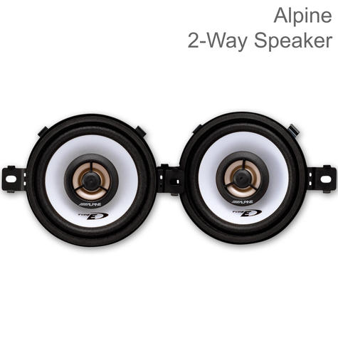Alpine Coaxial 2-Way Car-Van Audio Speakers | 3.5''-8.6cm | 150W Peak Power | SXE 0825 Thumbnail 1