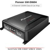 Pioneer GM D8604 1200W 4 Channel Class-D Car Audio Multi/Stereo Power Amplifier