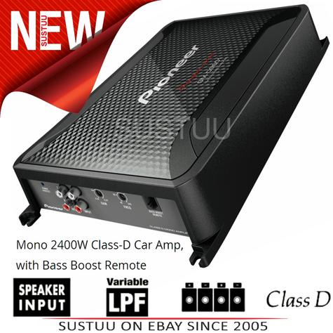 Pioneer GM-D9601 Mono Channel 2400W Class-D Car Amplifier with Bass Boost Remote Thumbnail 1