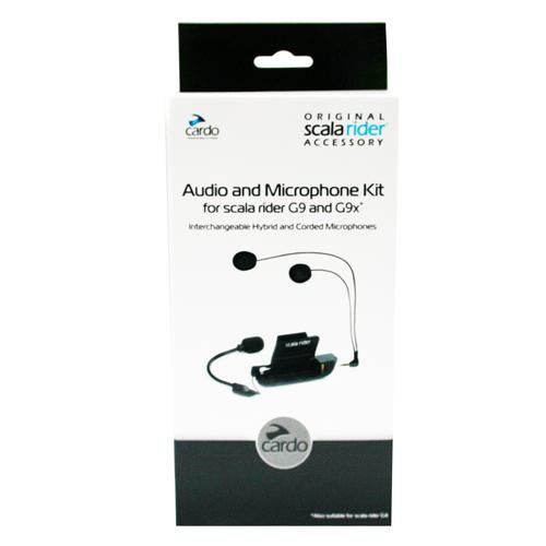 Cardo Scala Rider Audio& Microphone Kit with Dual Mic
