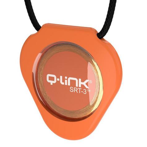 Q-Link SRT-3 Triangle Acrylic Pendant | Personal Energy System | Waterproof | Orange Thumbnail 2