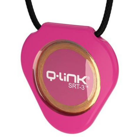 Q-Link SRT-3 Triangle Acrylic Pendant | Personal Energy System | Waterproof | Pink Thumbnail 2