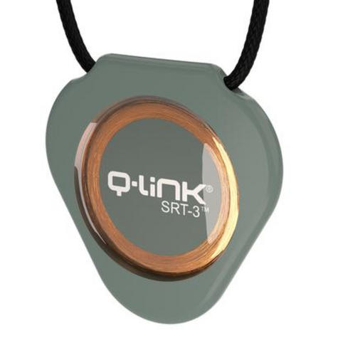 Q-Link SRT-3 Triangle Acrylic Pendant | Personal Energy System | Waterproof | Olive Thumbnail 2
