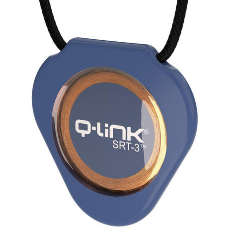 Q-Link SRT-3 Triangle Acrylic Pendant | Personal Energy System | Waterproof | Blue Thumbnail 2