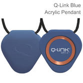 Q-Link SRT-3 Triangle Acrylic Pendant | Personal Energy System | Waterproof | Blue