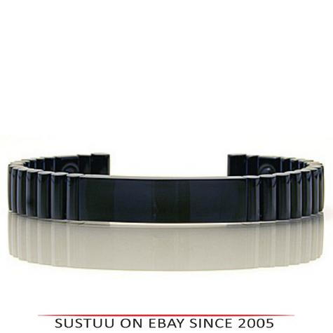 Q-Link SRT-3 Bracelet|Gloss Ceramic Finish|Stemina Improver|Unisex Small-Black  Thumbnail 1