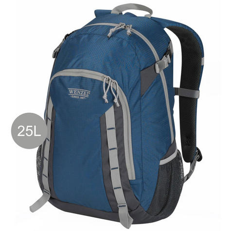 Wenzel Daypacker Daypack Backpack - 25 Litres | Poly.Travel Carry Bag | True Blue Thumbnail 1
