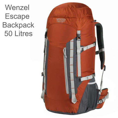 Wenzel Escape Backpack - 50 Litres - Russet|Polyester Carry Bag for Travellers  Thumbnail 1