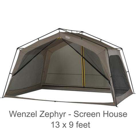 "Wenzel 36514 Zephyr Outdoor Screen House Tent 13x9 ft|Sun Shelter L5|""T"" Doors Thumbnail 1"
