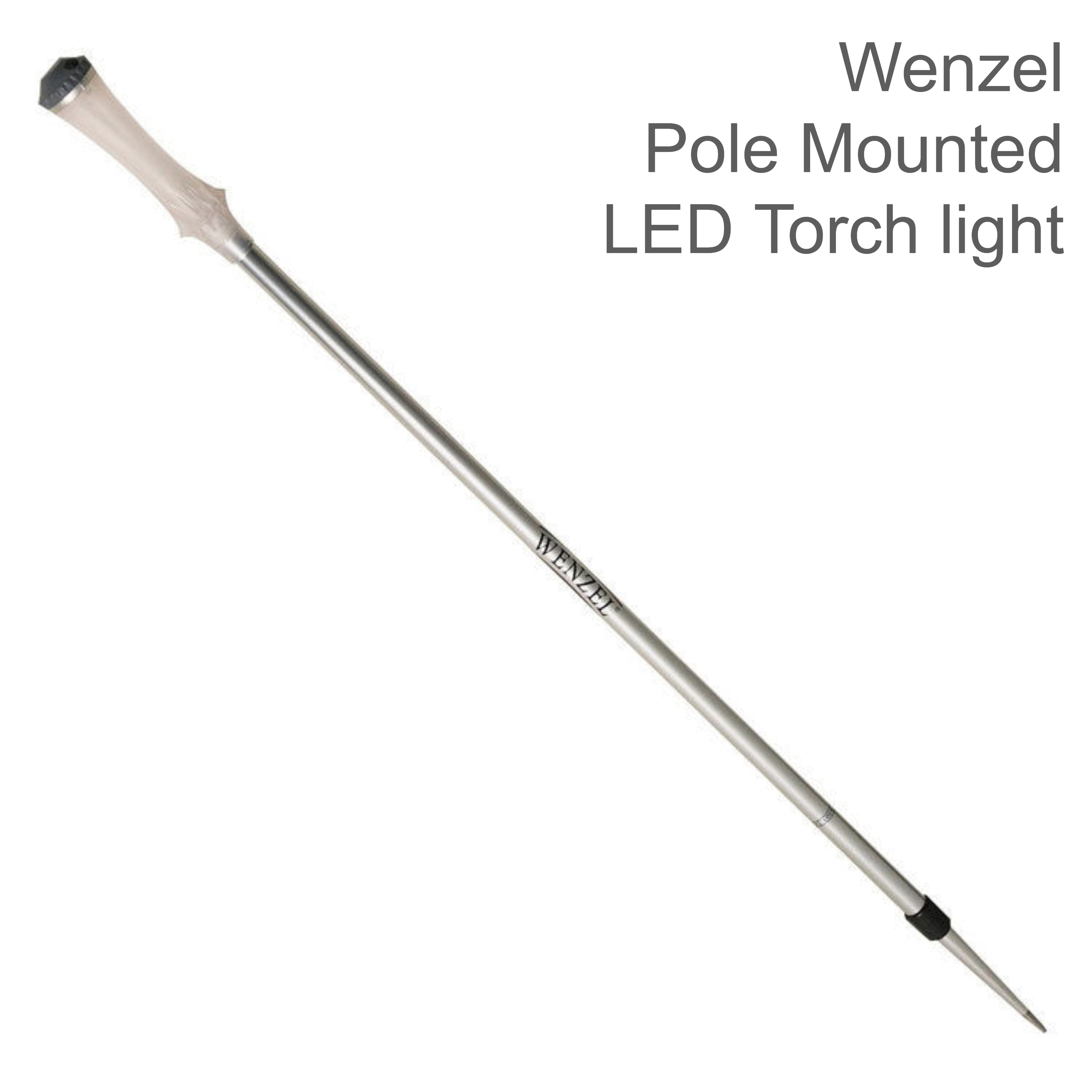 Wenzel LED Torch light Extendable Aluminium Pole Mounted Lamp|51614|Metallic