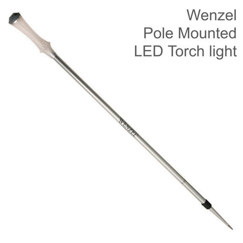 Wenzel LED Torch light Extendable Aluminium Pole Mounted Lamp|51614|Metallic Thumbnail 1