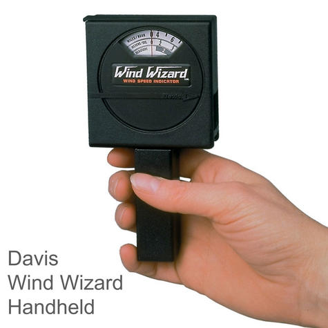 Davis Wind Wizard Handheld Wind - Speed Indicator|Measures Wind speed 0-60 mph Thumbnail 1