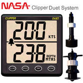 NASA Marine Clipper Duet with Paddlewheel & In hull Transducer Speed/Distance/Log & Echo