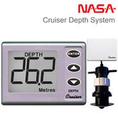 NASA Marine Cruiser Depth System with Transducer & Weather Cover | For Marine