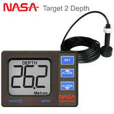 NASA Marine Target 2 Boats Depth Sounder Instrument with Transducer|Compact Size|Deep & Shallow Alarms