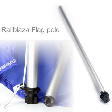 Railblaza Flag pole 800mm - Black mount|Light & Strong|Easy to Fits in StarPort  Thumbnail 1