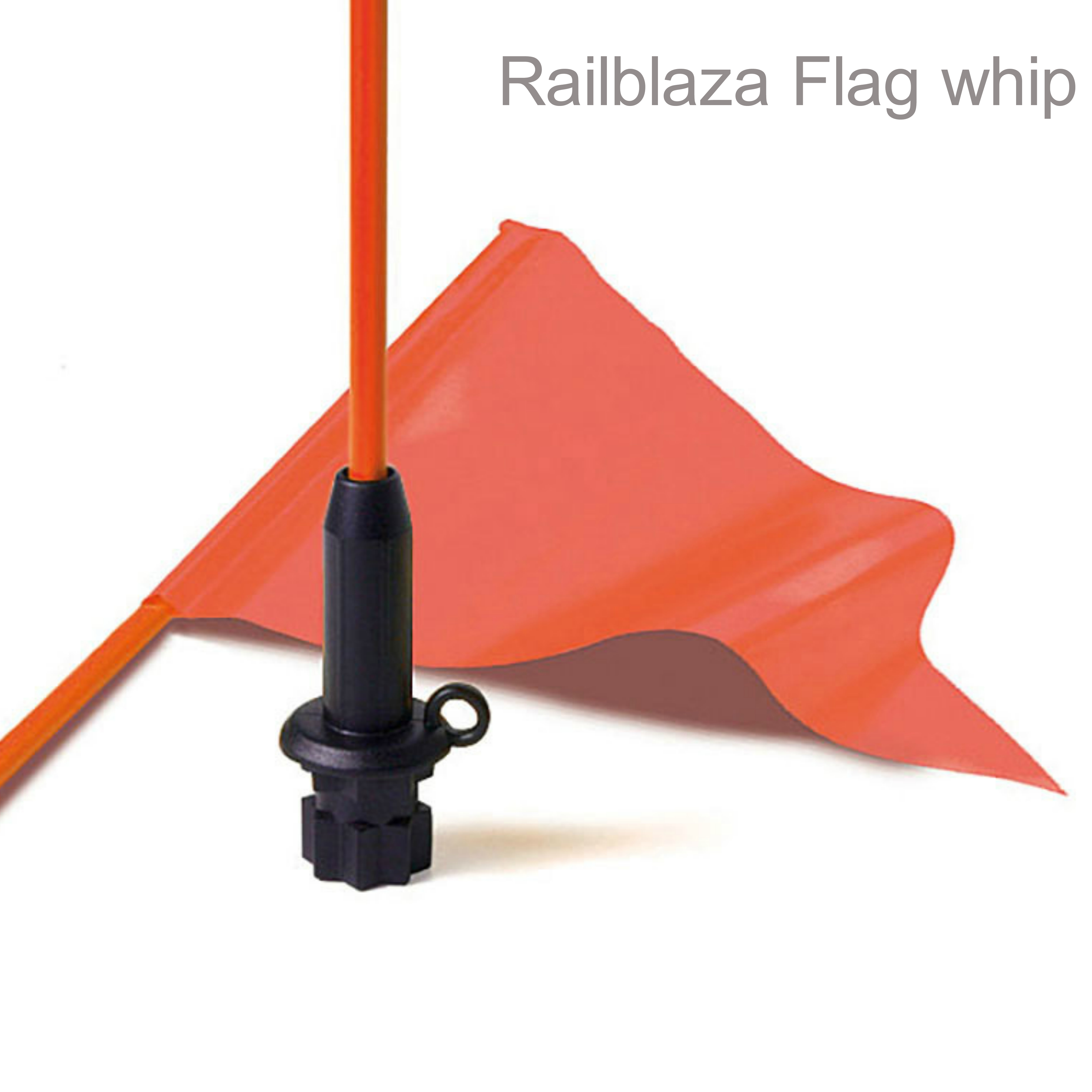 Railblaza Flag Whip & Pennant - Black Base|Light & Flexible|For Kayak Visibility