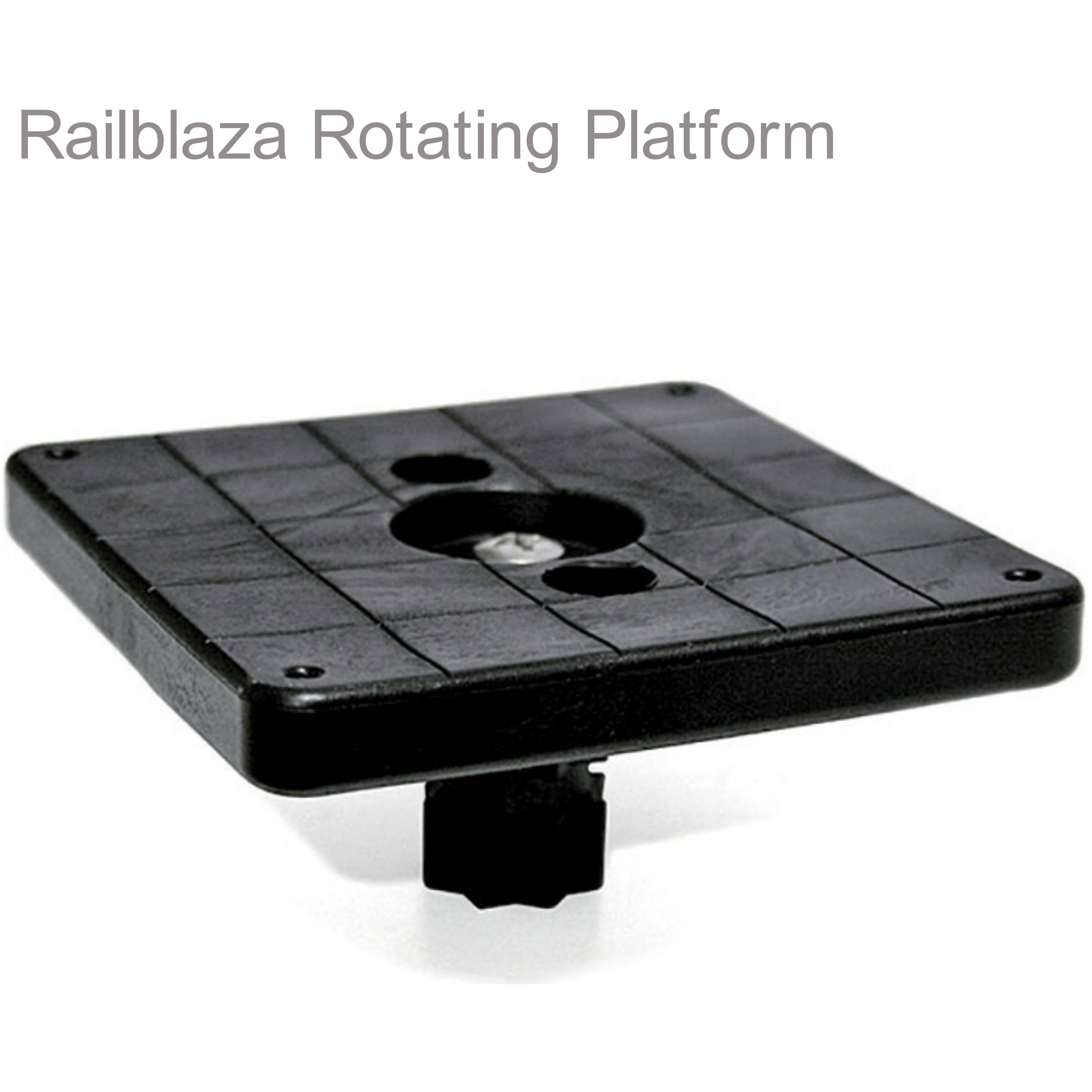 "Railblaza Platform Rotating 102mm Square - 4""|Turned 360°|Use for Kayak/Sailboats"
