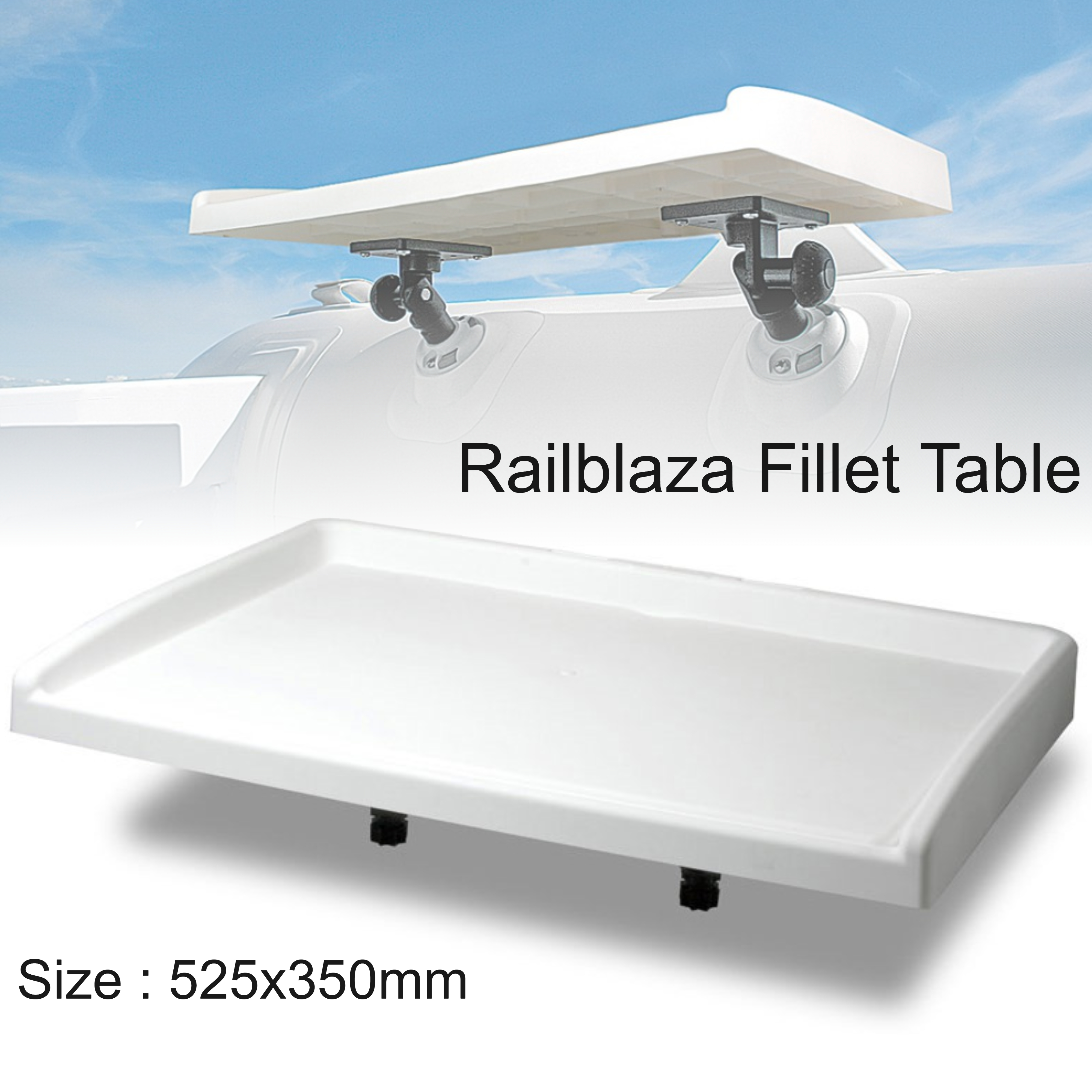 Railblaza Fillet Table Only|Moulded Quality|Easy-fit Overboard|02-4024-11