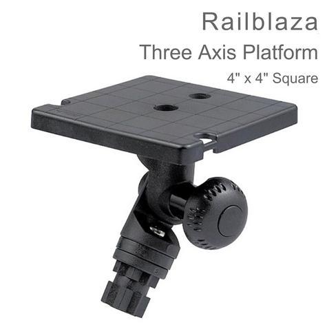 "Railblaza Three Axis Rotating Platform -  4""x4"" Square | Kayak & Boat Accessories Thumbnail 1"