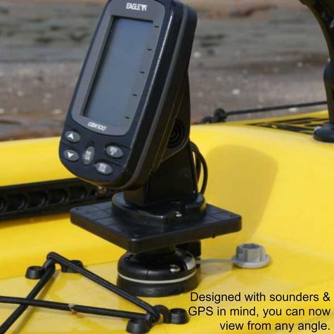 "Railblaza Three Axis Rotating Platform -  4""x4"" Square | Kayak & Boat Accessories Thumbnail 3"