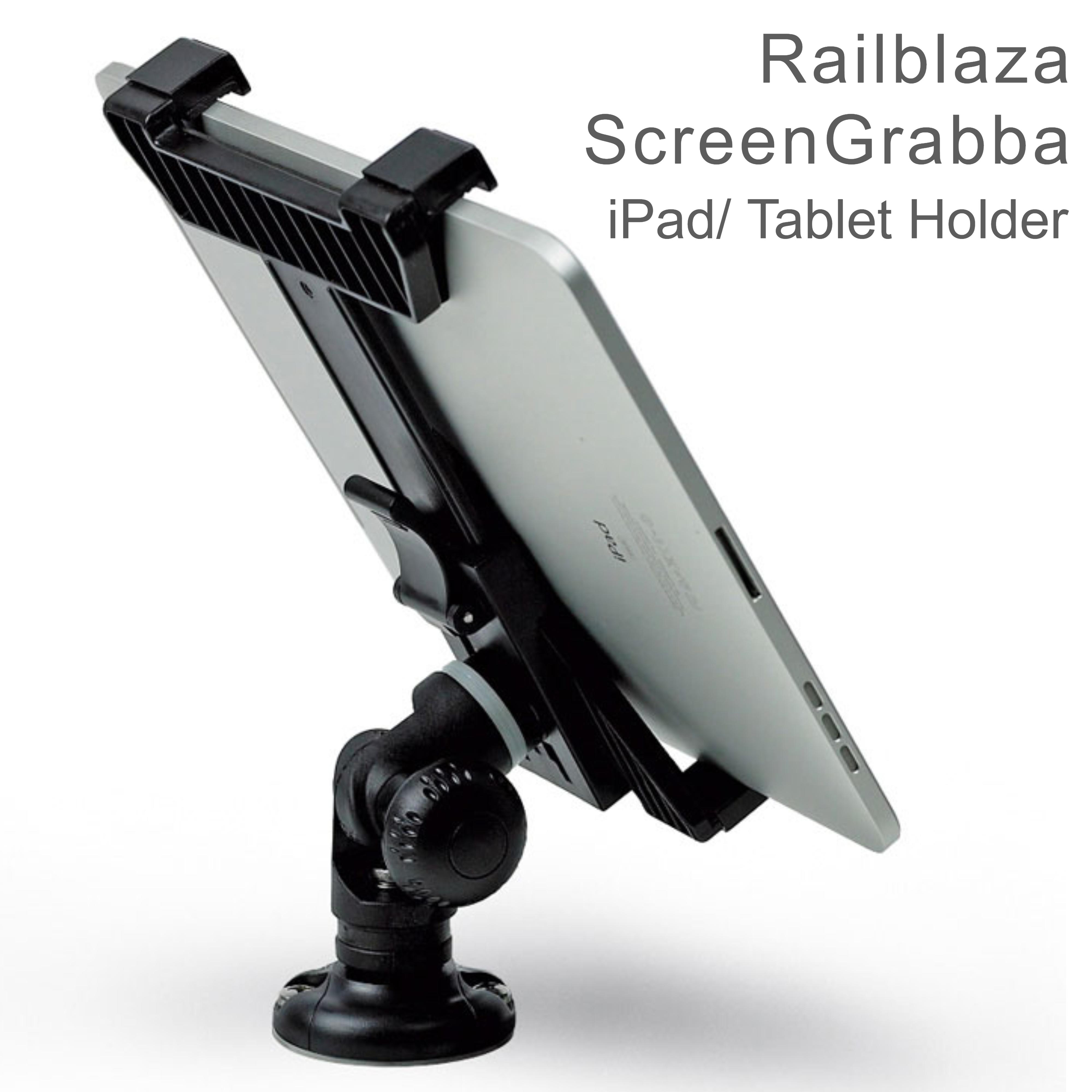 "Railblaza ScreenGrabba - Fits 7"" - 10"" iPad & Tablets Holder|02-4045-11|Black"