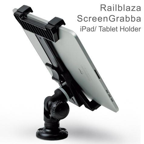 "Railblaza ScreenGrabba - Fits 7"" - 10"" iPad & Tablets Holder|02-4045-11|Black Thumbnail 1"