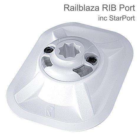 Railblaza RIB Port - inc. StarPort & 3M VHB Pad?For Kayak/ Rib/ Boats?White Thumbnail 1