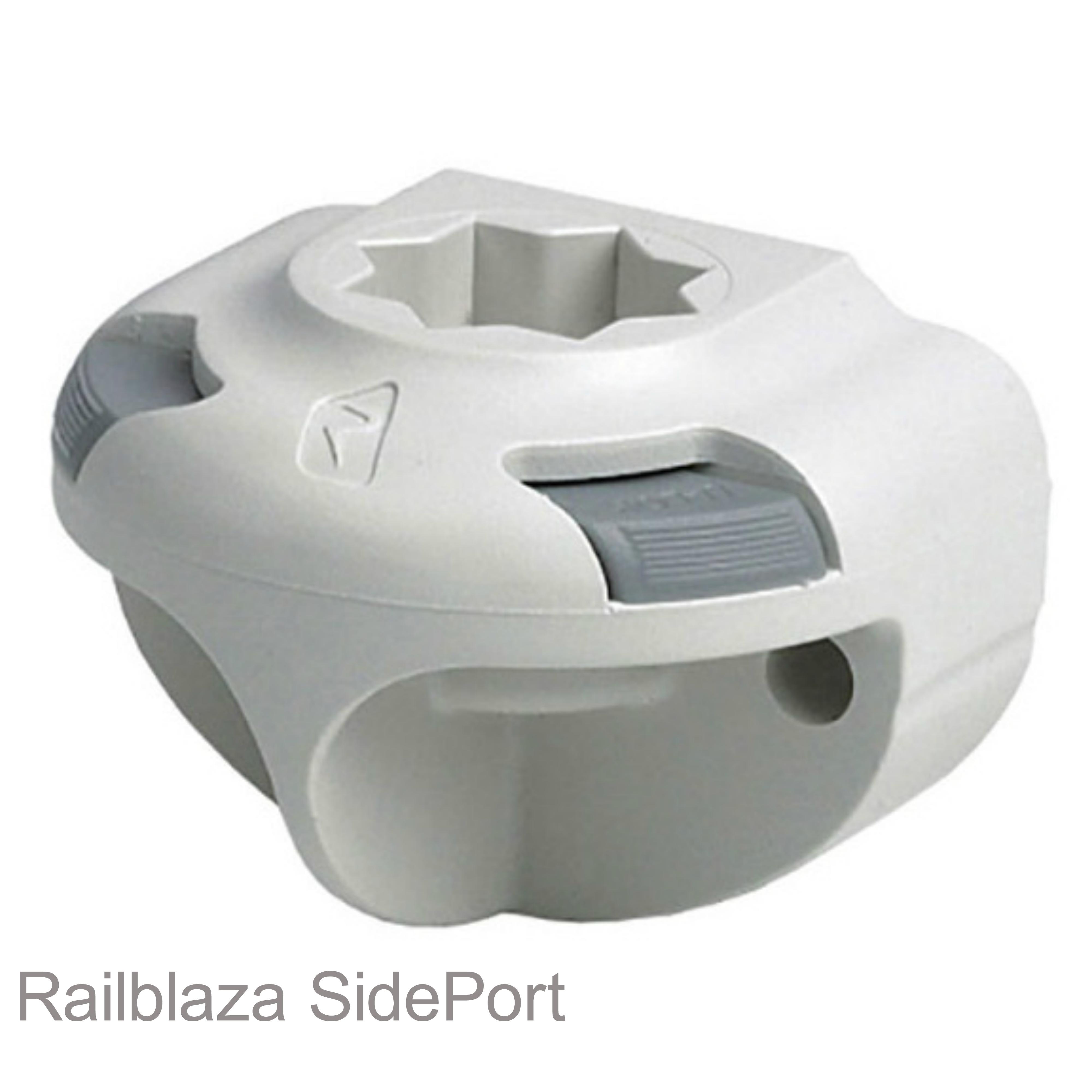 Railblaza SidePort Gunwale/Cockpit/Well Vertical Mount for Boat & Kayak - White