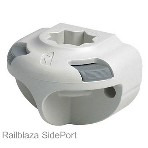 Railblaza SidePort Gunwale/Cockpit/Well Vertical Mount for Boat & Kayak - White Thumbnail 1