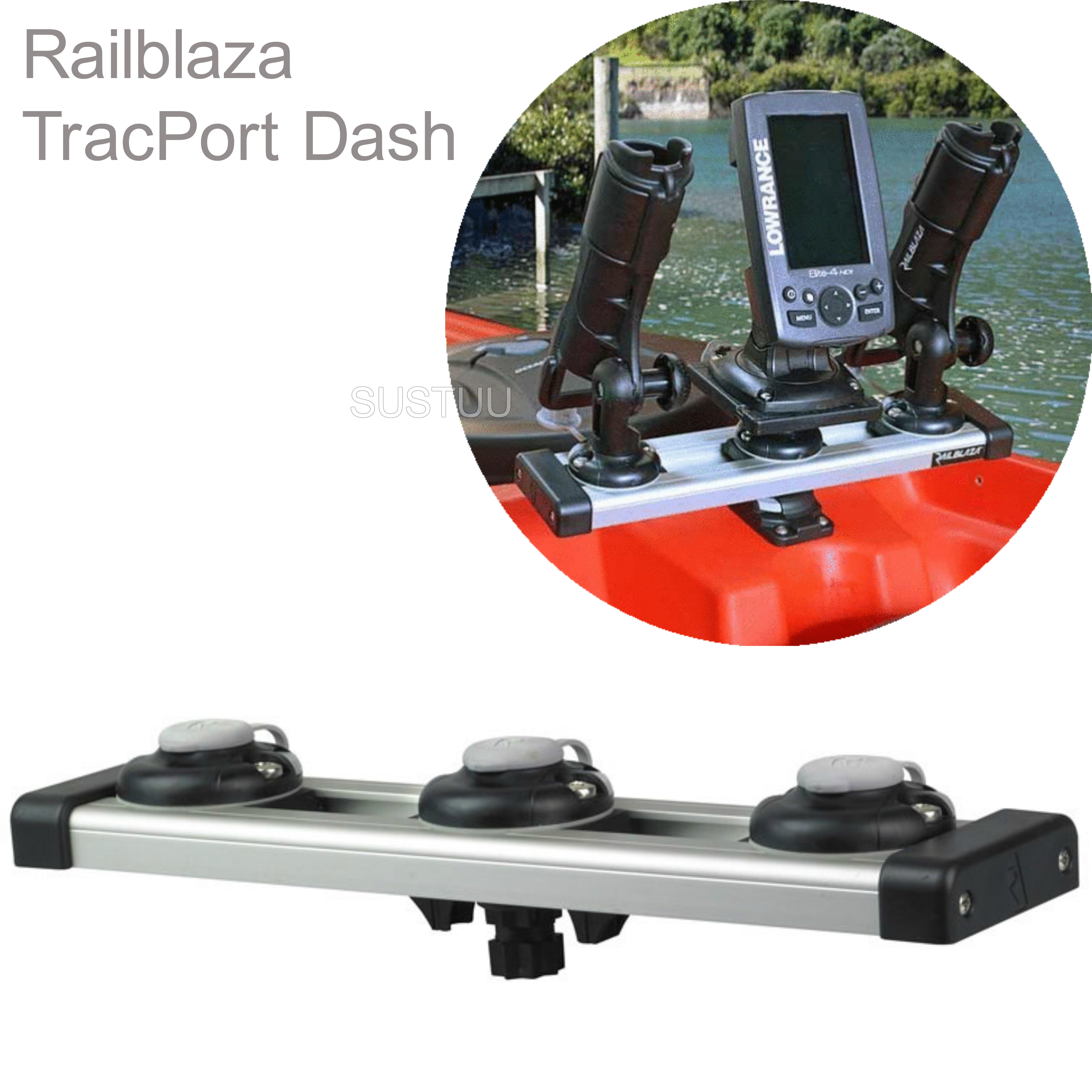 Railblaza TracPort Dash 350mm - Kayak Fishing Accessory