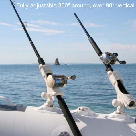 Railblaza Rod Holder II Adjustable 360° To 90° Flexible & Convenient  White Thumbnail 3