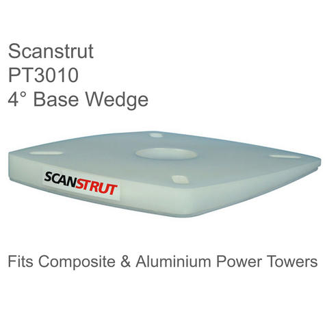 Scanstrut PT3010 - 4° Base Wedge|Fits All Composite & Aluminium Power Towers Thumbnail 1