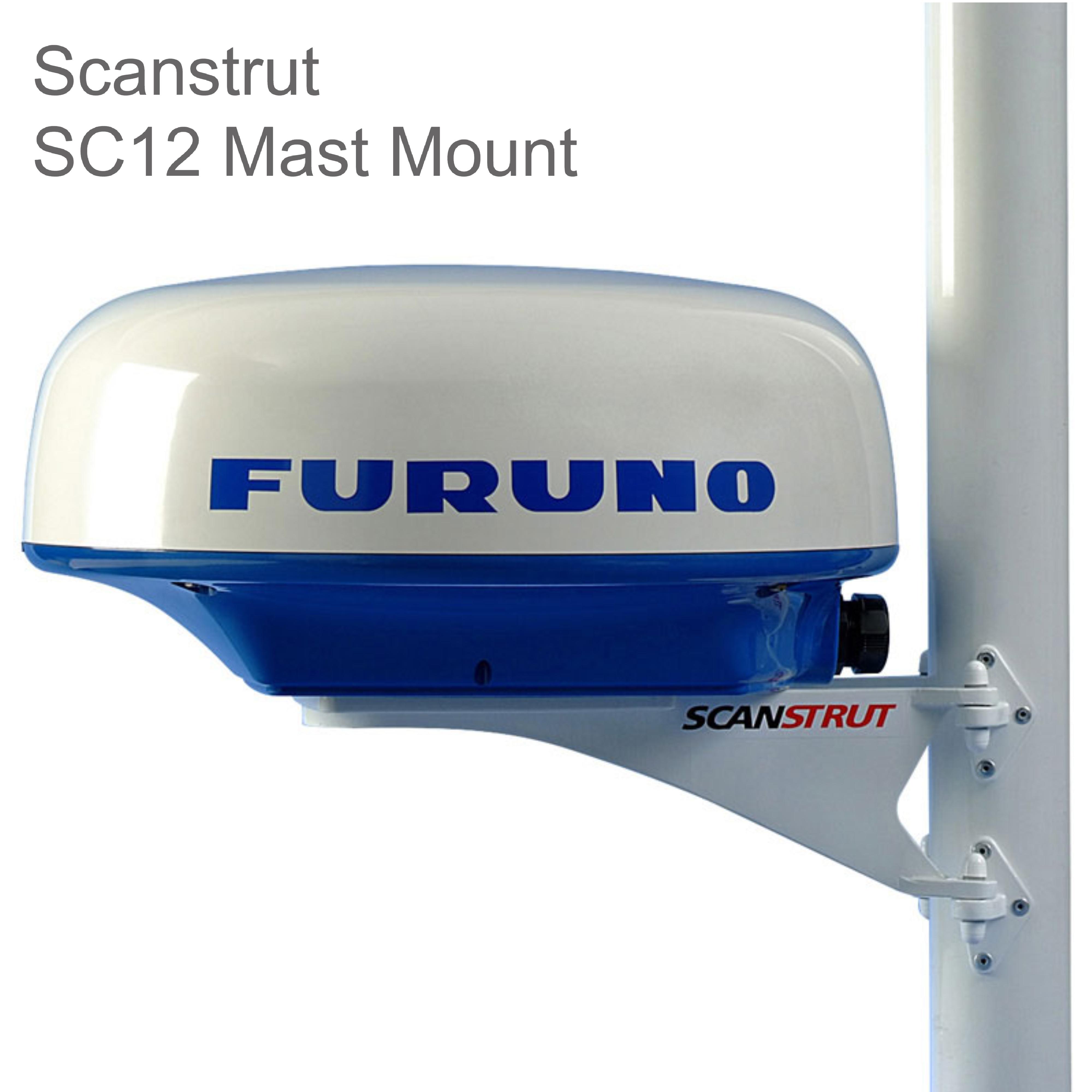 Scanstrut SC12 Mast Mount Platform For Radome & Small Satcom/TV Antenna - Medium