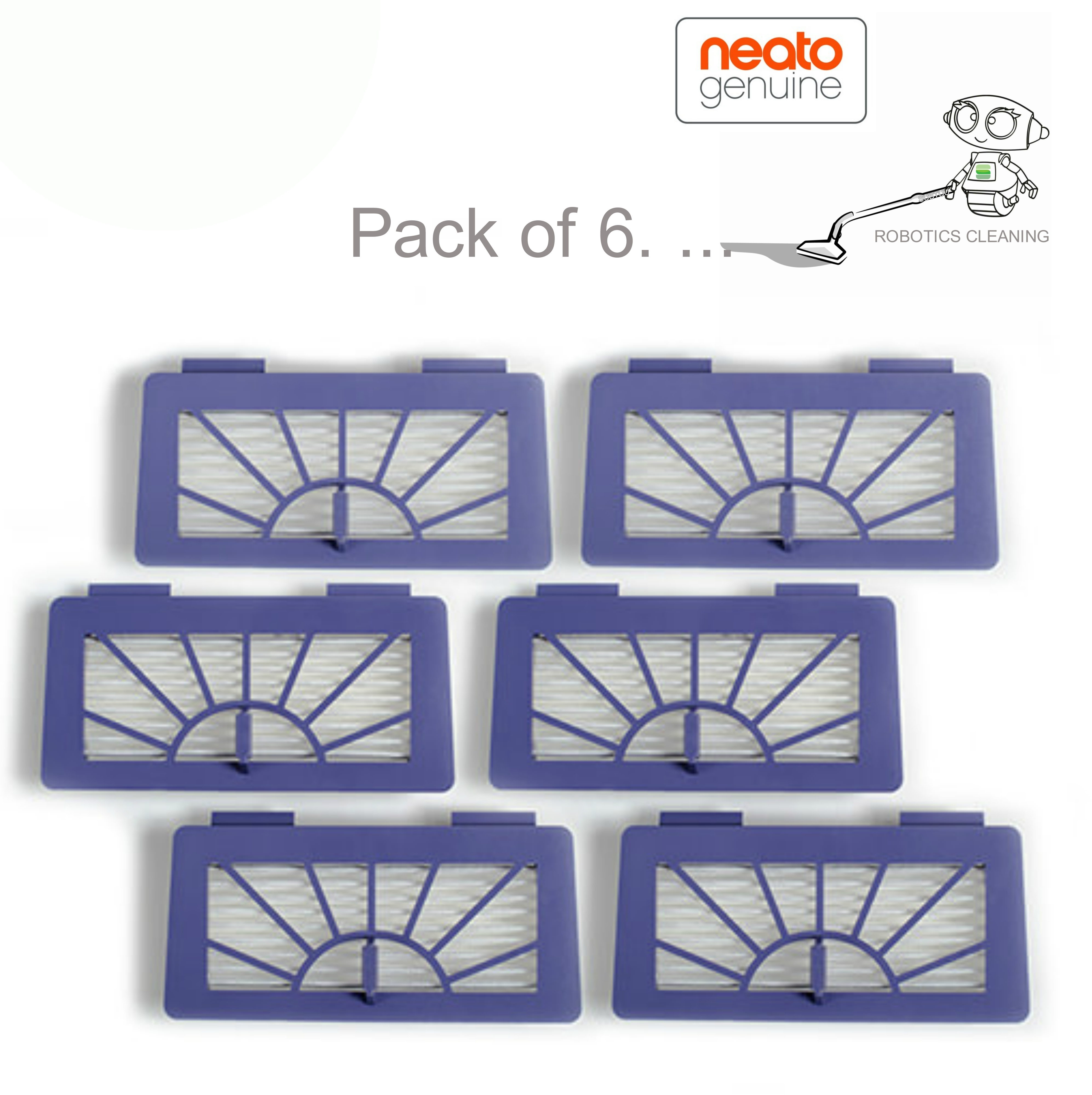Neato XV Series High Performance Filters/Pads|For Robot Vacuum Cleaner|Pack of 6