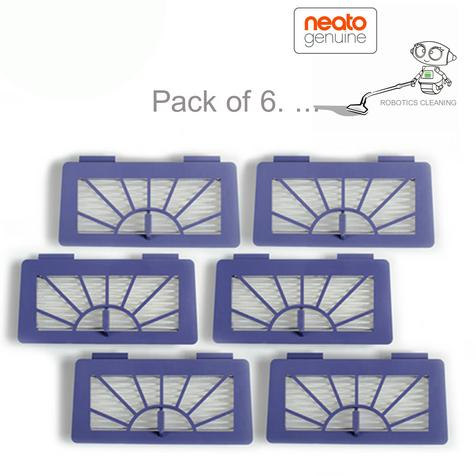 Neato XV Series High Performance Filters/Pads|For Robot Vacuum Cleaner|Pack of 6 Thumbnail 1