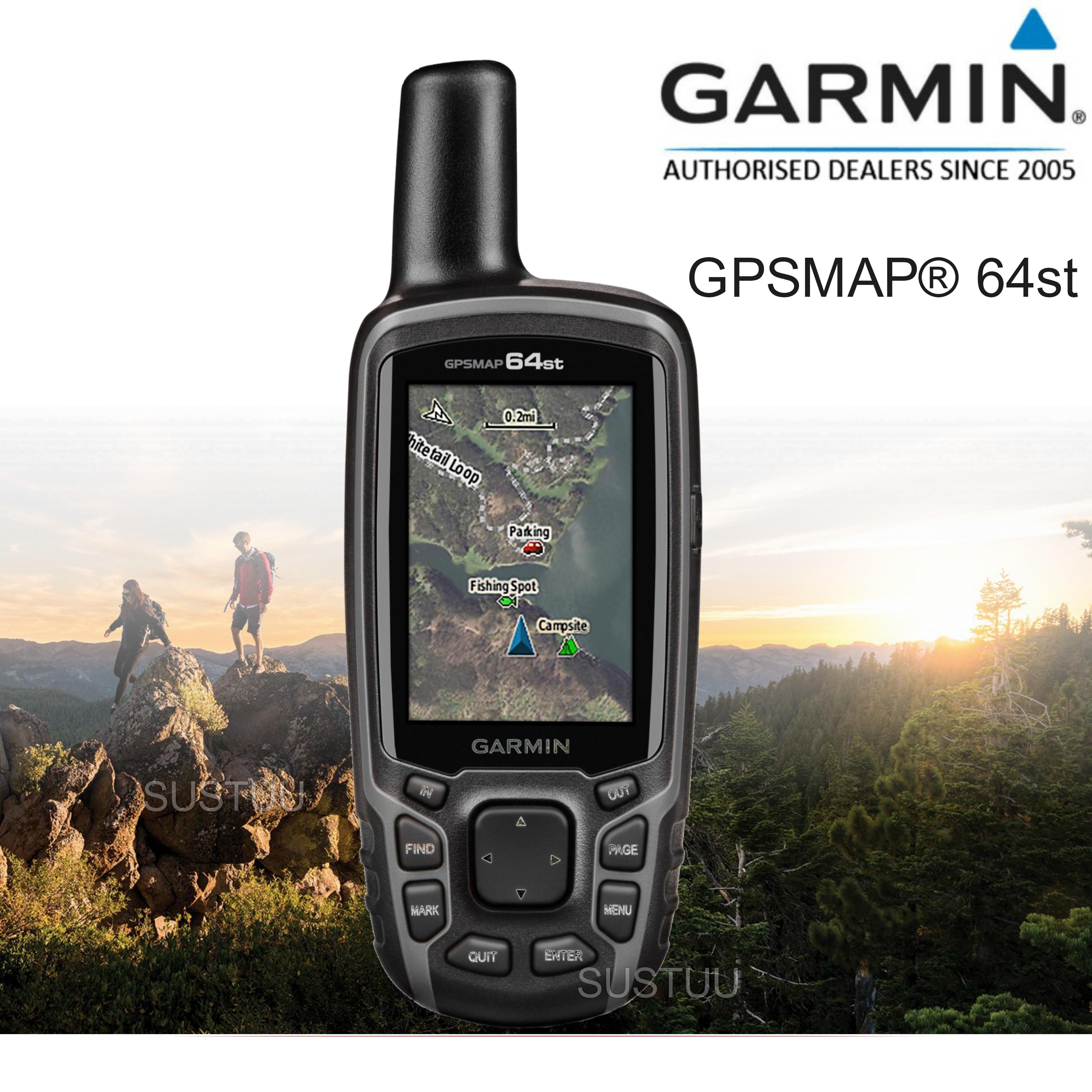 Garmin GPSMAP 64st|Handheld GPS-GLONASS Navigator|Compass|Preloaded Europe Maps