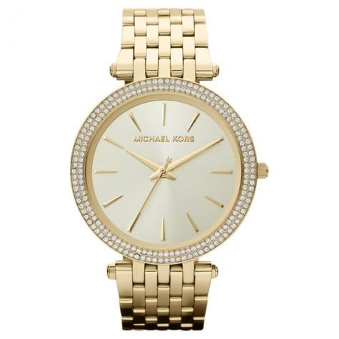 Michael Kors Darci Ladies Watch|Gold Tone Dial Pave Bezel|Bracelet Band|MK3191 Thumbnail 1