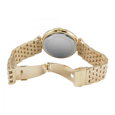 Michael Kors Darci Ladies Watch|Gold Tone Dial Pave Bezel|Bracelet Band|MK3191 Thumbnail 3