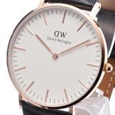 Daniel Wellington Ladies' Sheffield 36mm Rose Gold Case Leather Strap Watch
