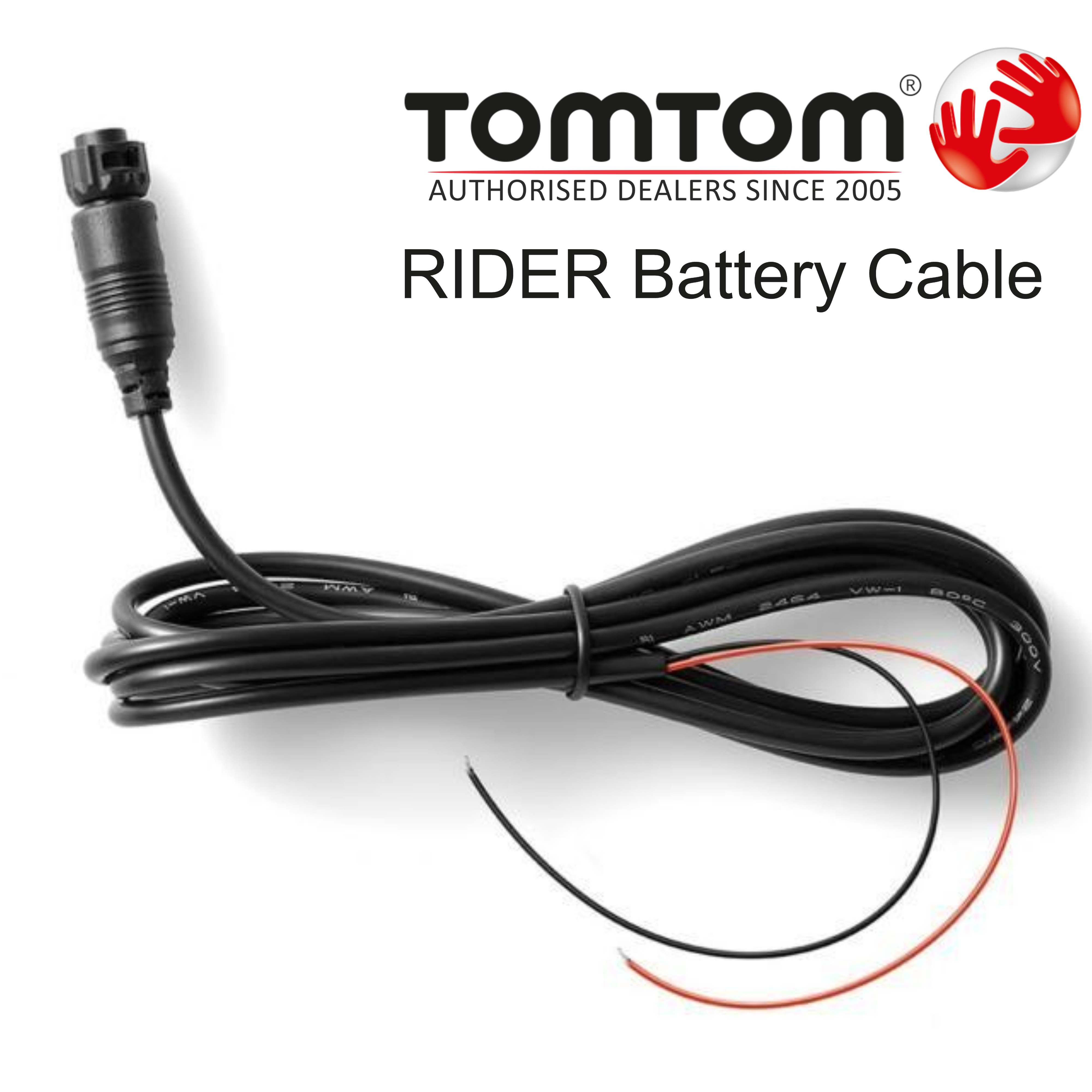 tomtom battery power charging cable for motorcycle satnav. Black Bedroom Furniture Sets. Home Design Ideas