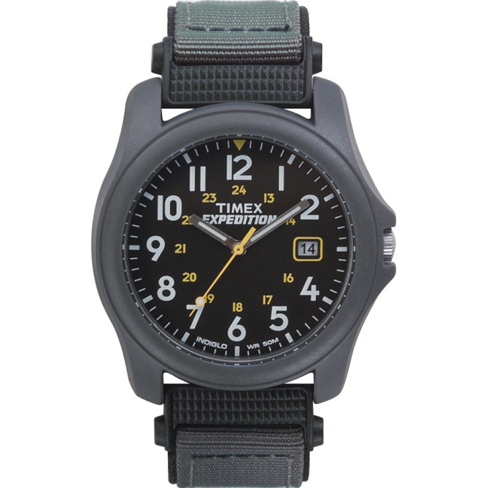 Timex T42571 Expedition Camper Watch|Black Dial|Analogue Display|Grey Fast Strap